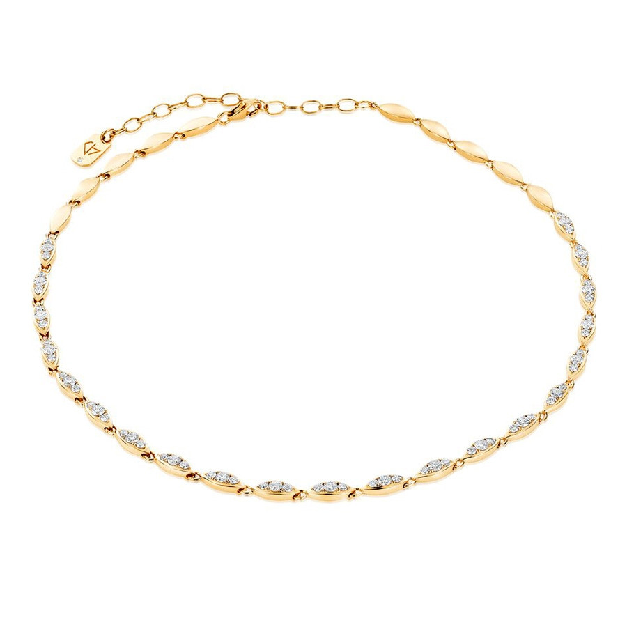 Carbon & Hyde Angel Yellow Gold Diamond Choker