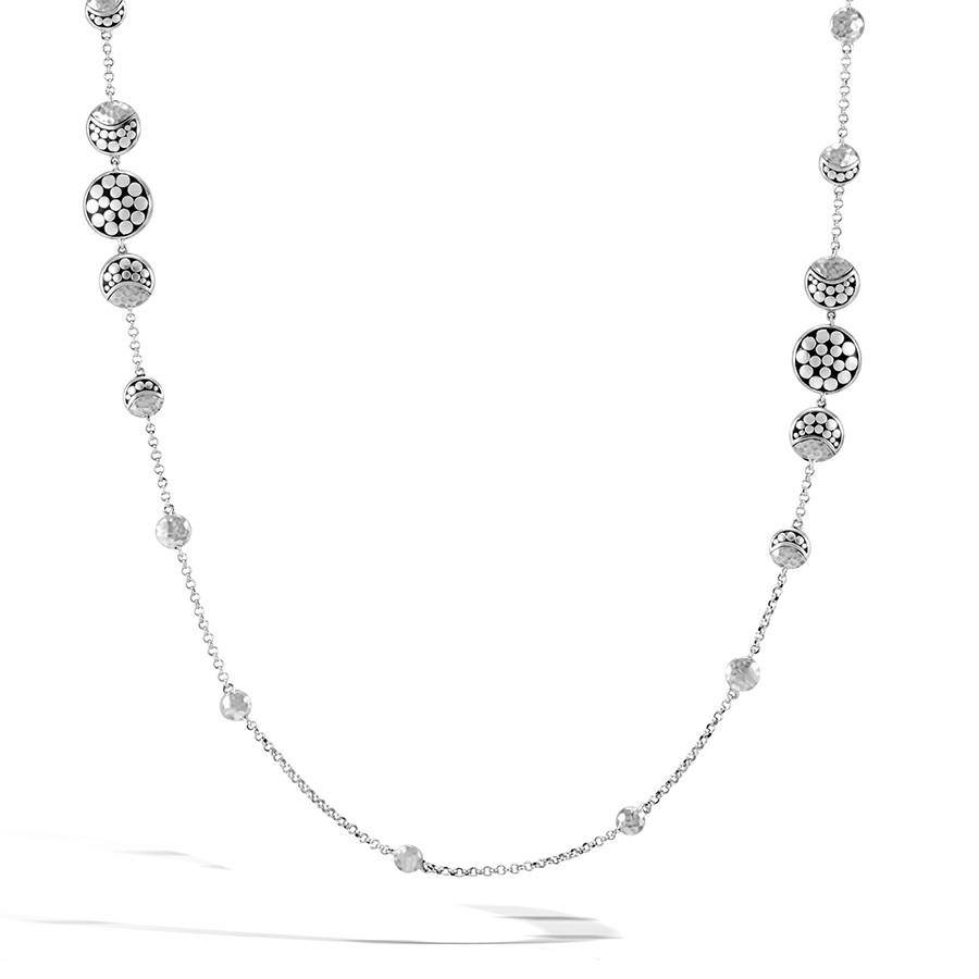 John Hardy Moonphase Dot Hammered Silver Station Necklace