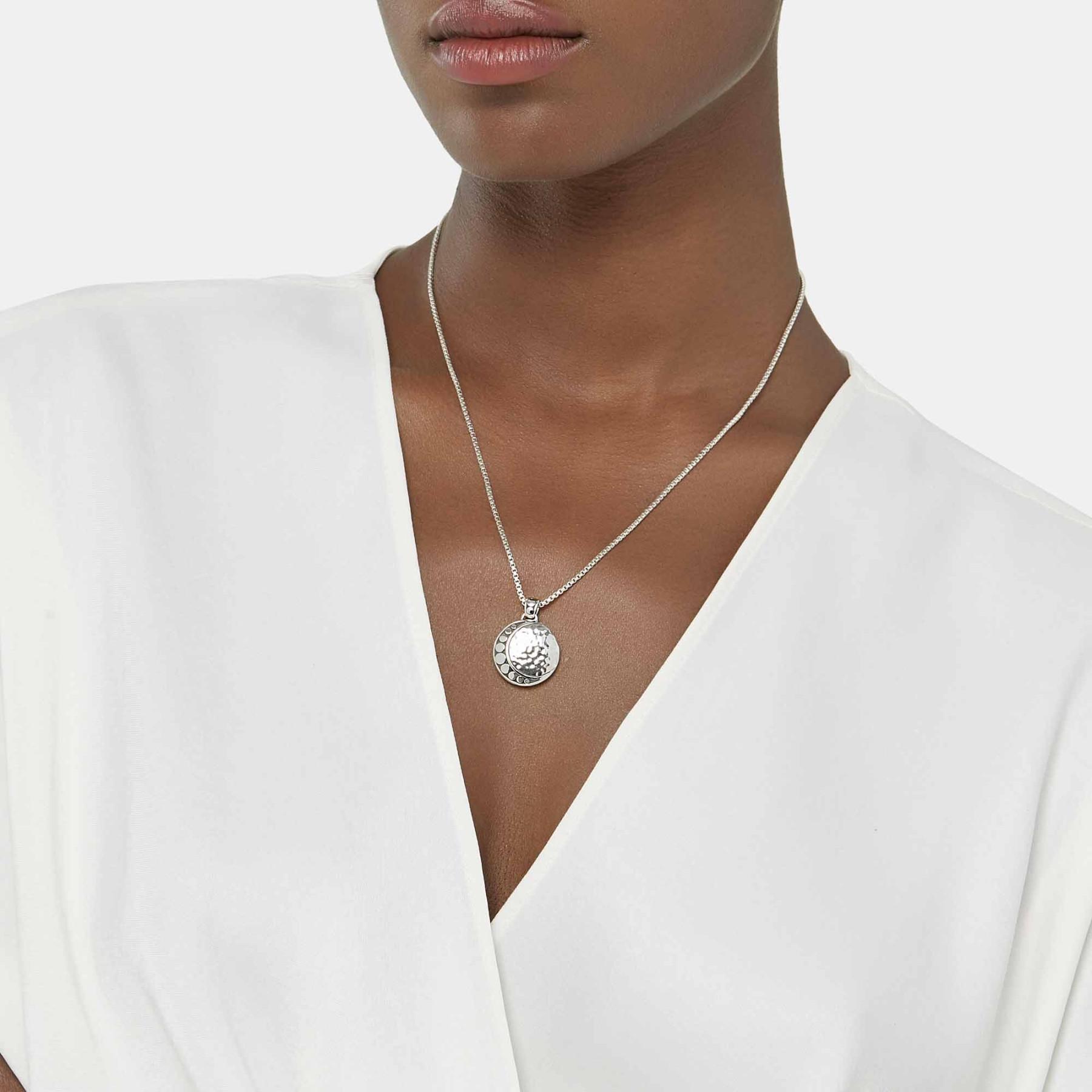 John Hardy Dot Moon Phase Necklace on model