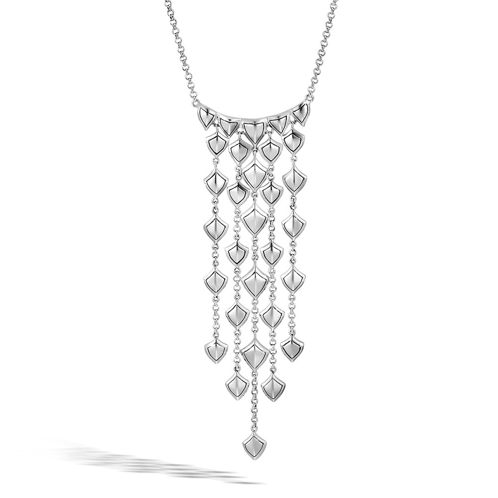 John Hardy Naga Legends Silver Cascade Dragon Scale Waterfall Necklace