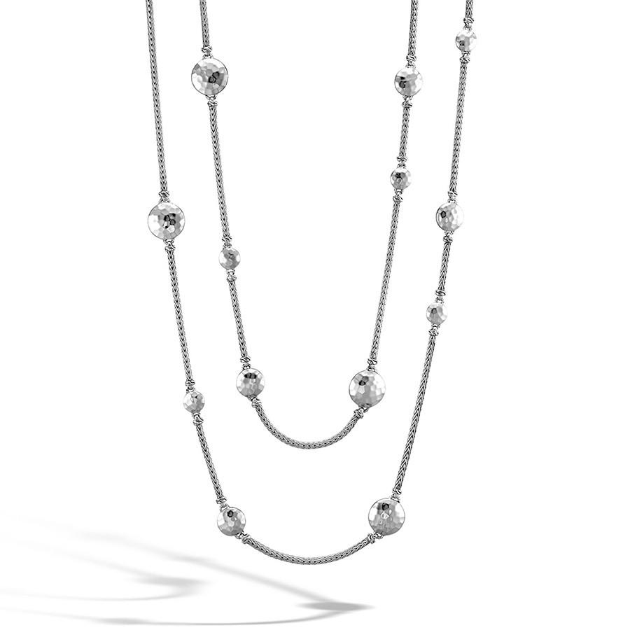 John Hardy Palu Silver Disc Station Sautoir Necklace