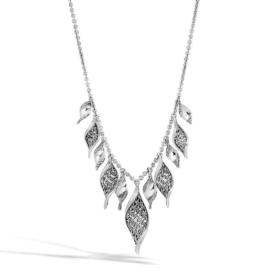 John Hardy Silver Classic Chain Multi Wave Pendant Necklace