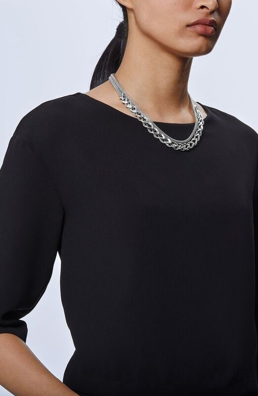 John Hardy Classic Chain Asli Silver Graduated Station Link Necklace style 2