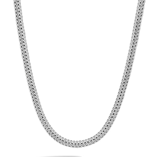 "John Hardy Classic Chain 6.26mm Silver 16"" Necklace with Chain Clasp"