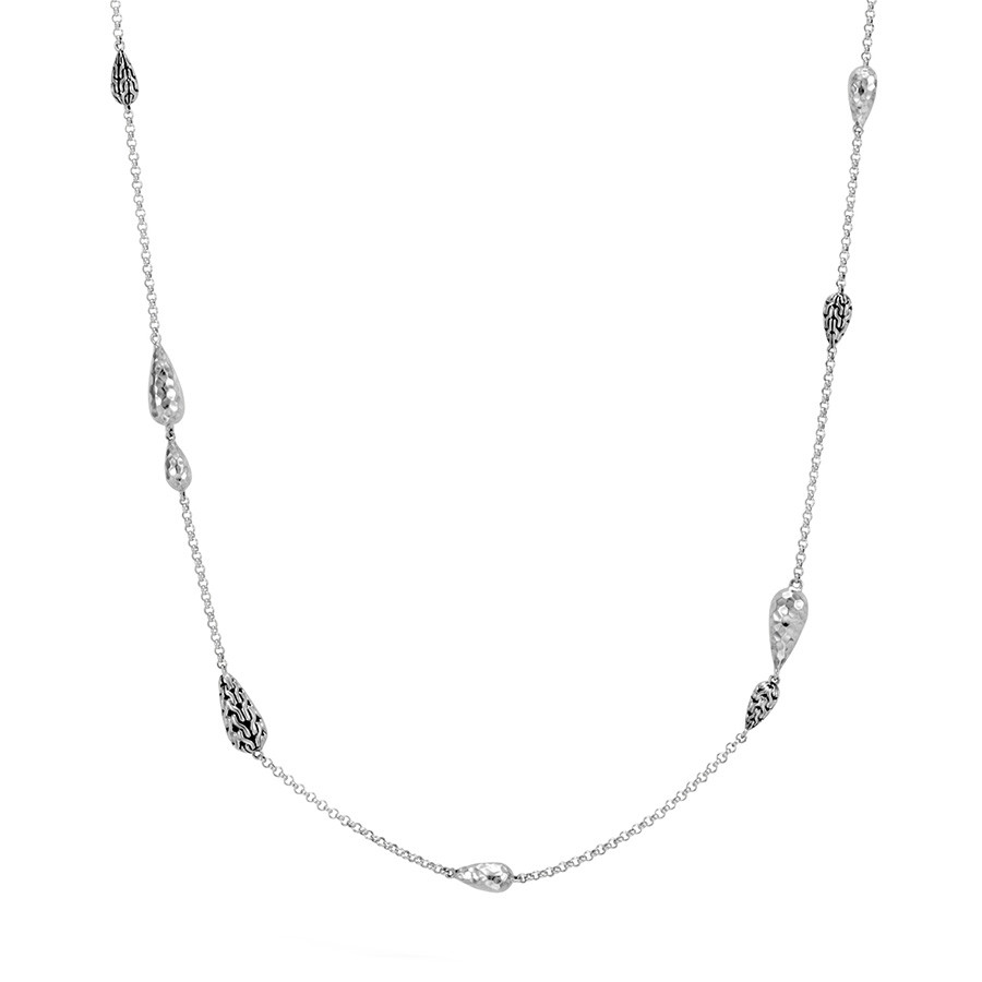 "John Hardy Hammered Silver 36"" Classic Chain Necklace"