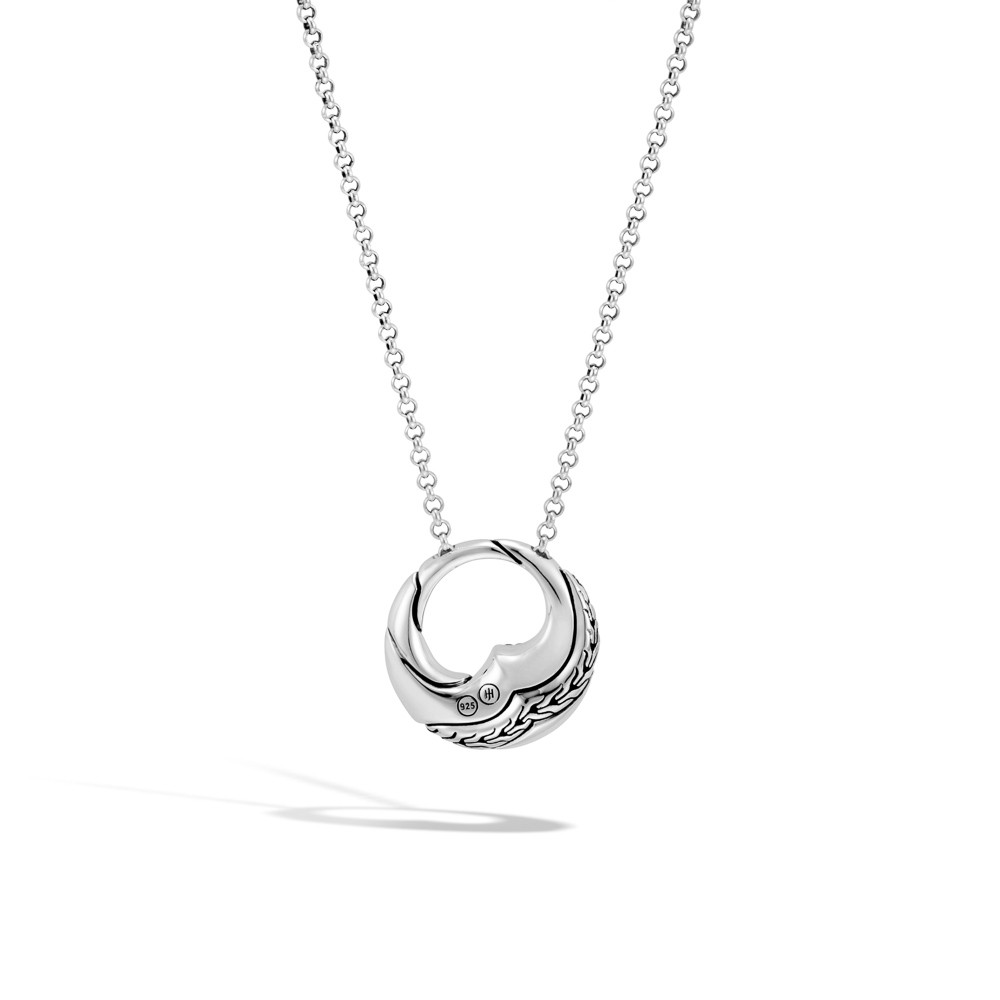 John Hardy Lahar Open Circle Blue Sapphire Necklace in Sterling Silver