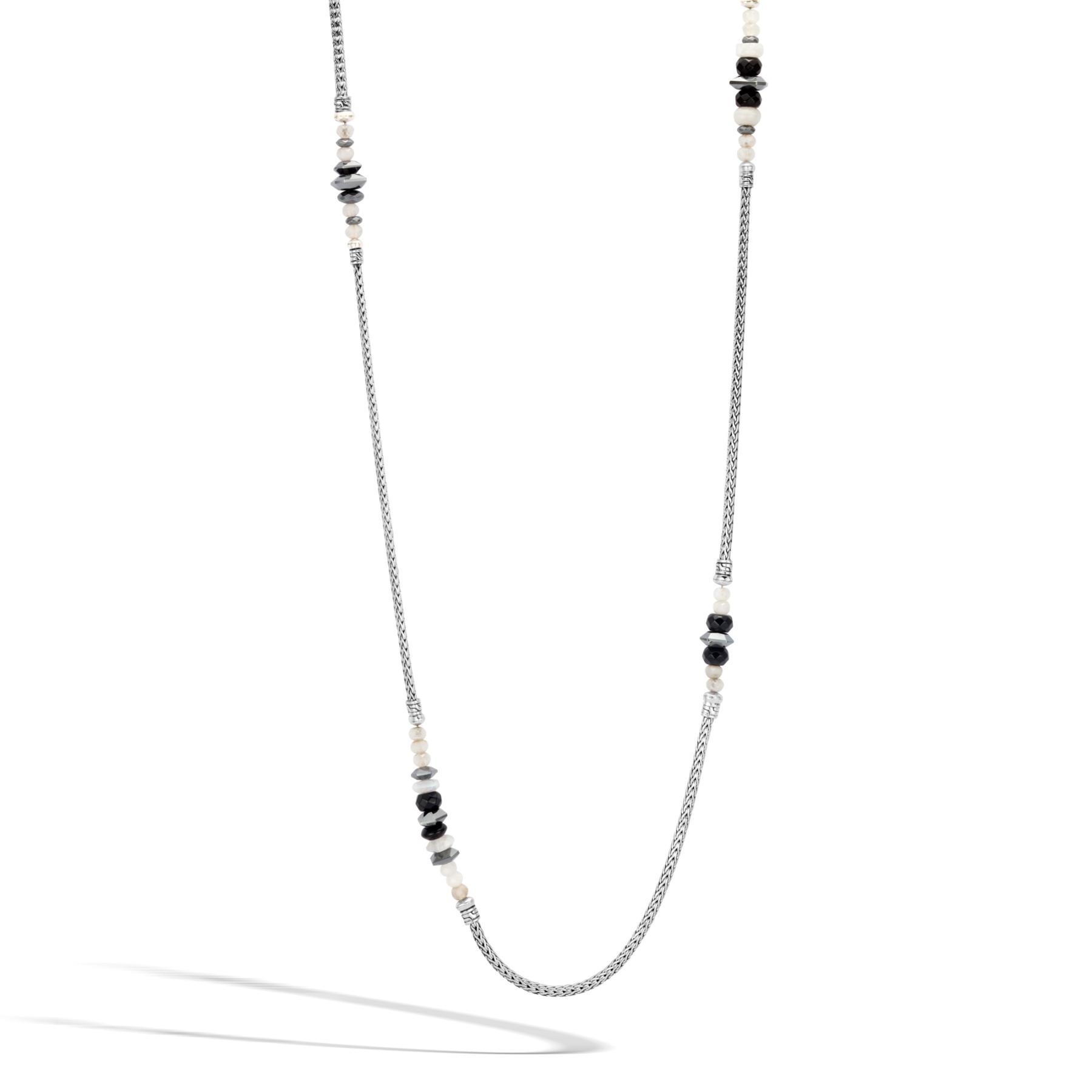 John Hardy Classic Chain Hematite Station Necklace