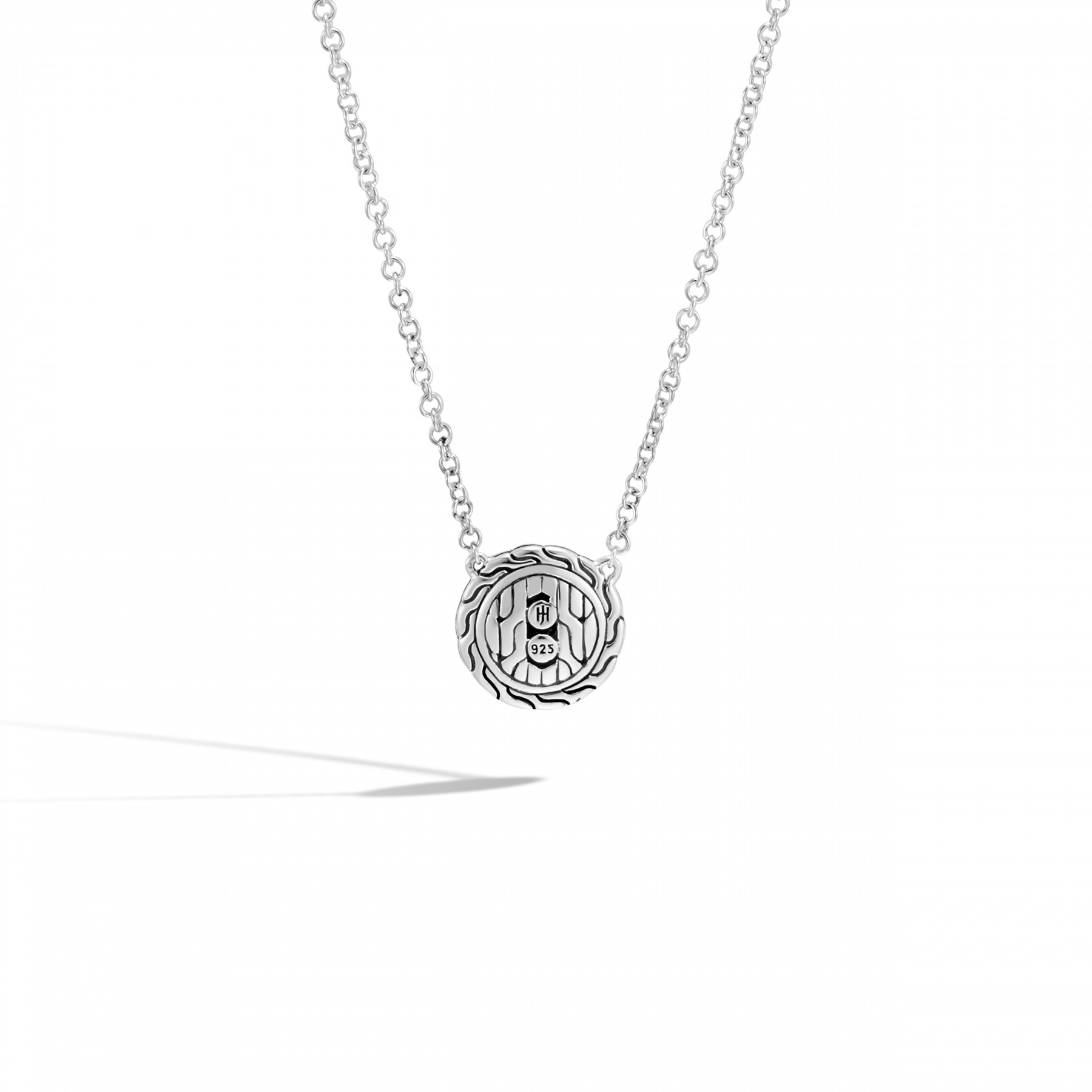 John Hardy Classic Chain Black Sapphire Round Necklace back view