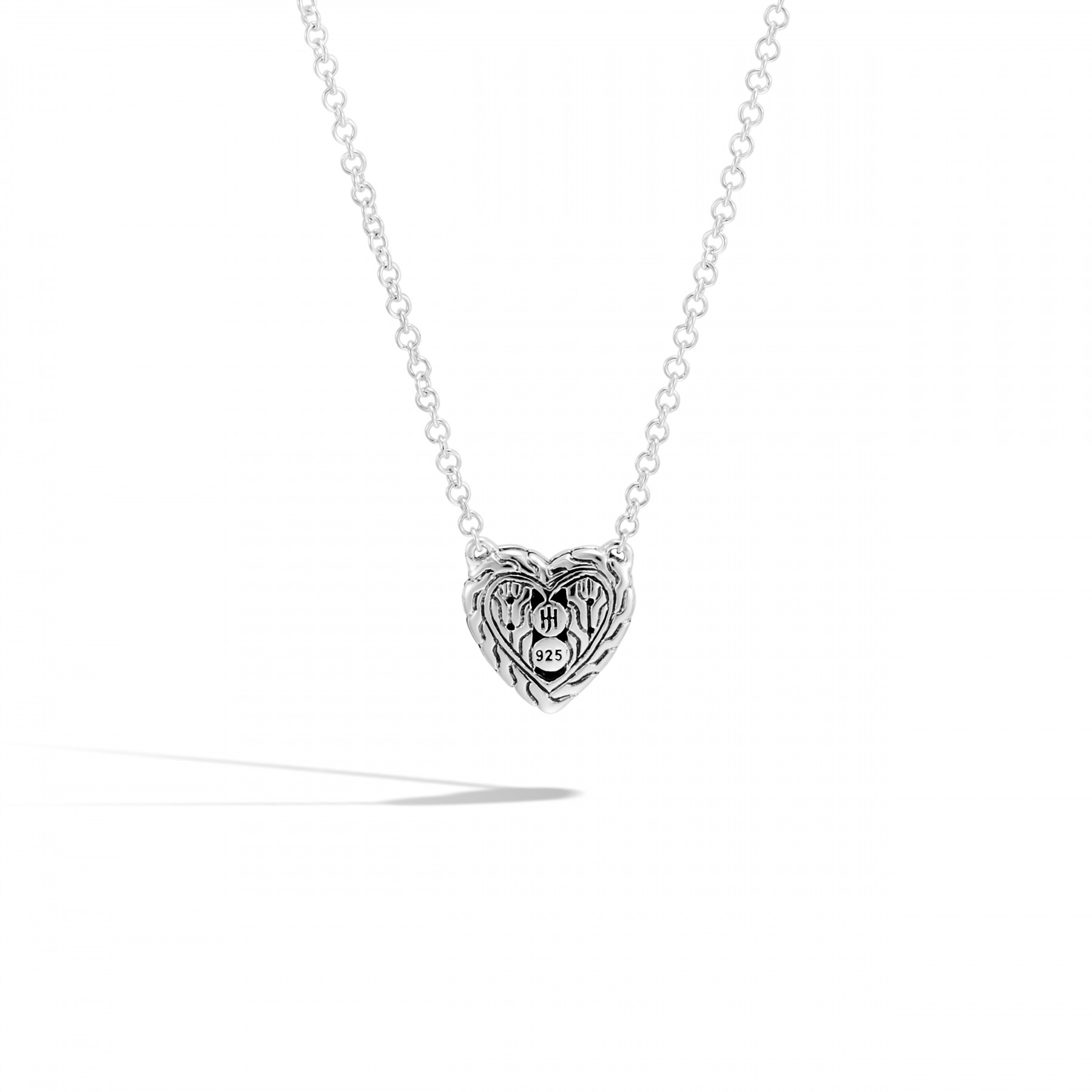 John Hardy Classic Chain Black Sapphire Heart Necklace back view