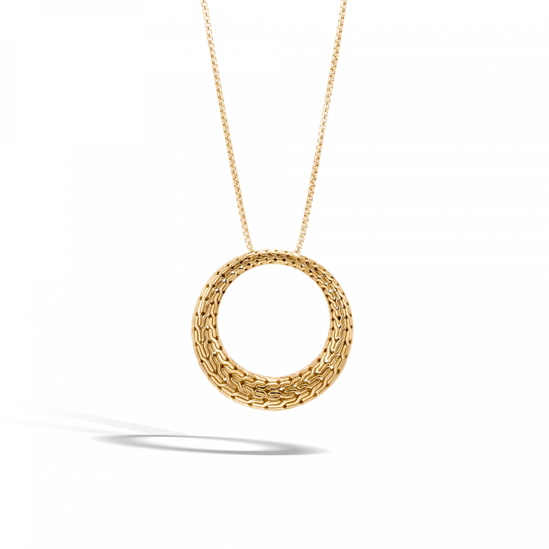 John Hardy Classic Chain Open Circle Necklace in Yellow Gold