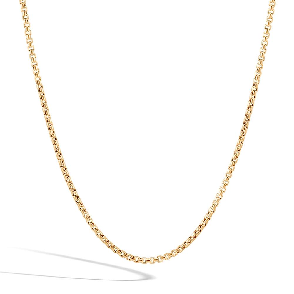John Hardy Yellow Gold Classic Chain 2.5mm Box Chain Necklace