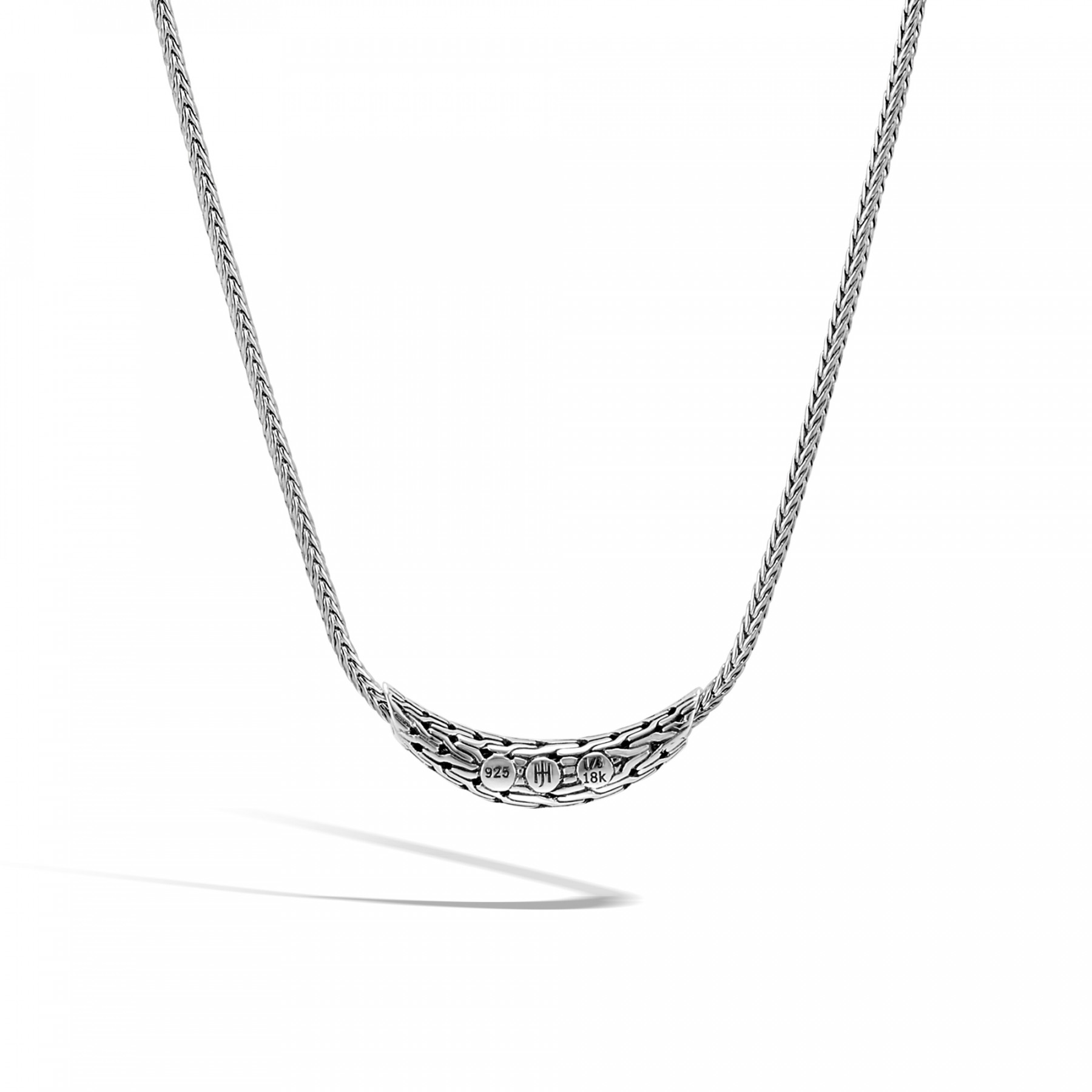 John Hardy Classic Chain Two-Tone Station Necklace back view
