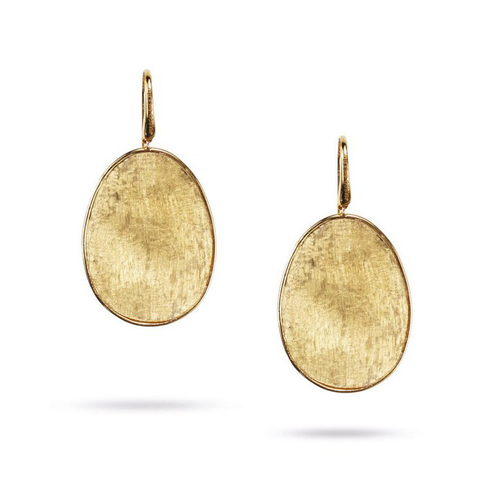 Marco Bicego Yellow Gold Large Leaf Drop Lunaria Earrings