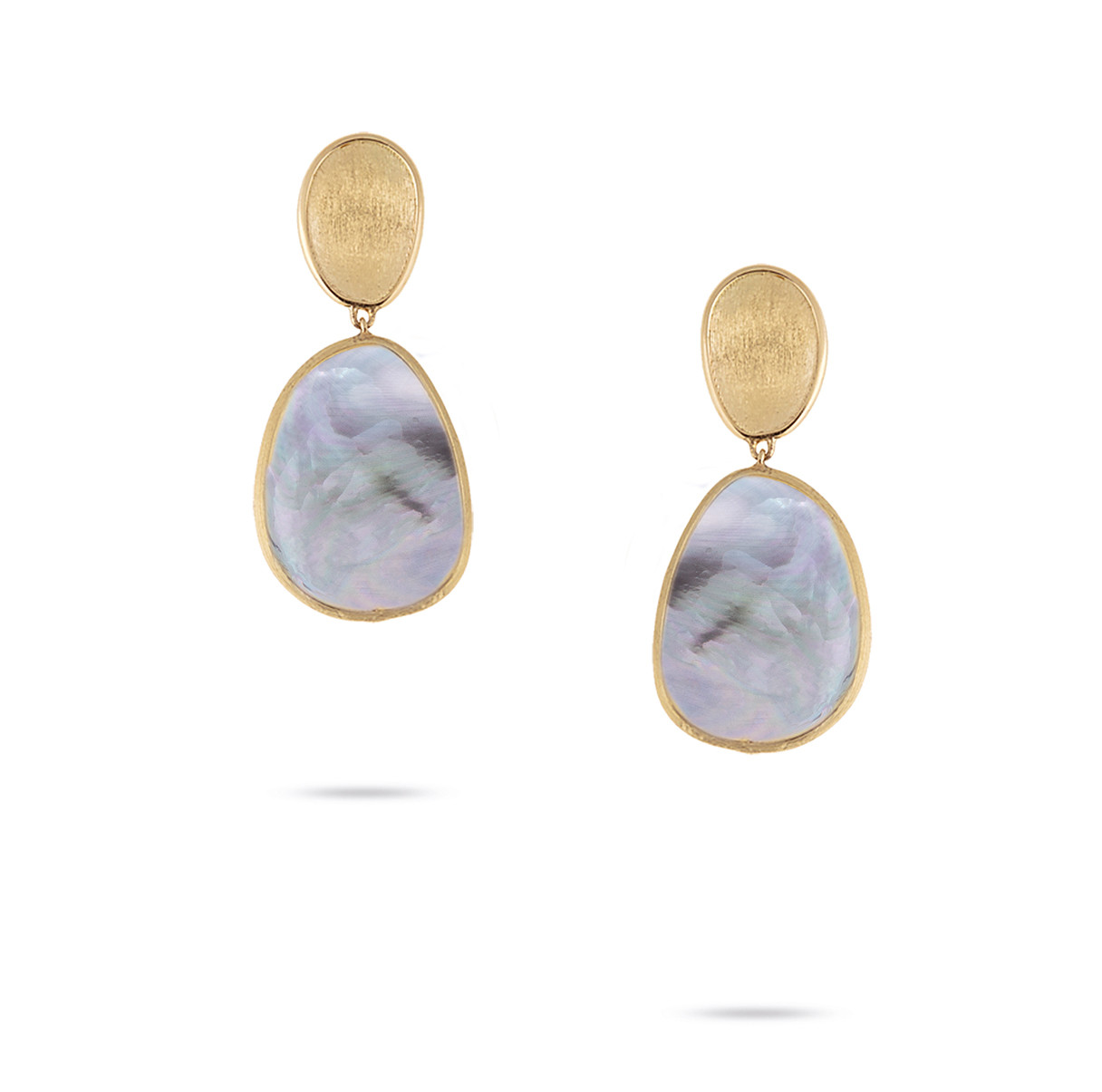 Marco Bicego Black Mother of Pearl Lunaria Earrings