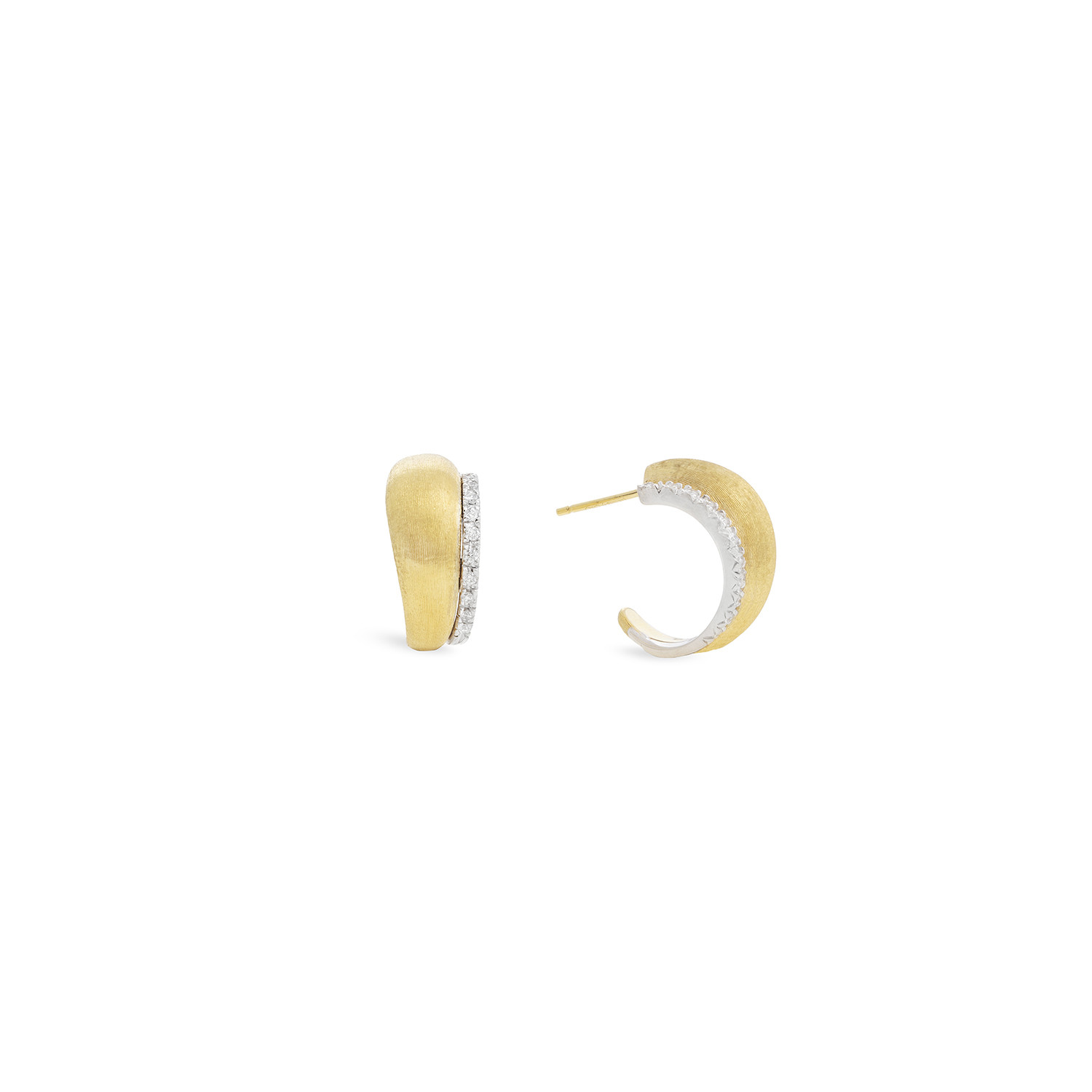 Marco Bicego Lucia Gold and Diamond Hoop Earrings