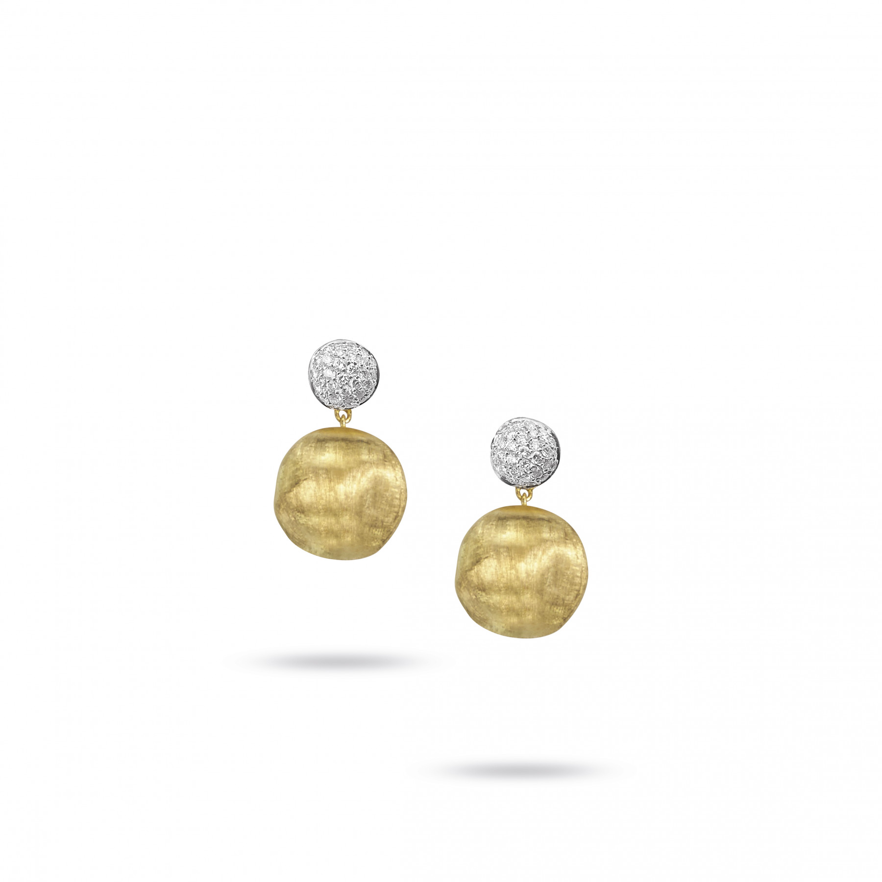 Marco Bicego Africa Gold Diamond Drop Earrings