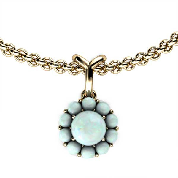 Color My Life Opal Short Pendant