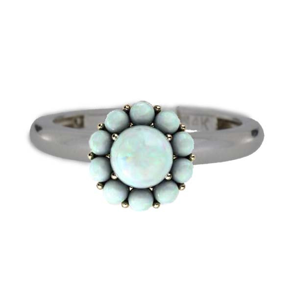 Color My Life Opal Ring in White Gold
