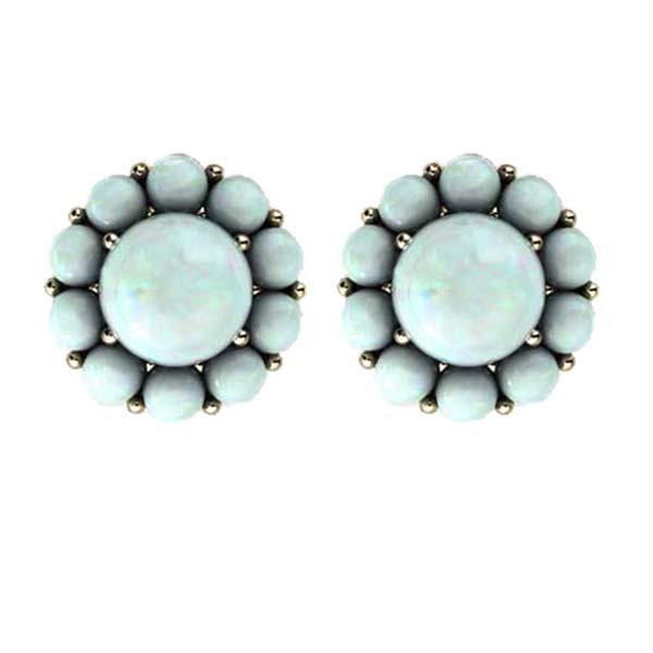Color My Life Opal Stud Earrings