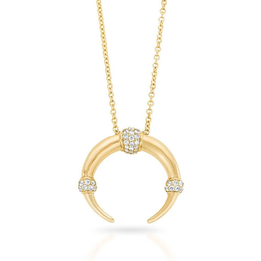 Carbon & Hyde Dharma Yellow Gold Diamond Pendant Necklace