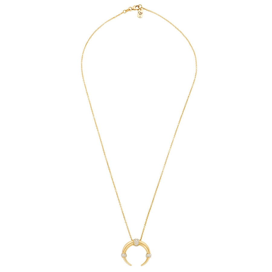 Carbon & Hyde Dharma Yellow Gold Diamond Pendant Necklace Full View