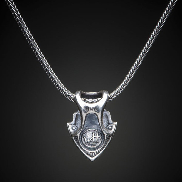 William Henry Shield Necklace Back View
