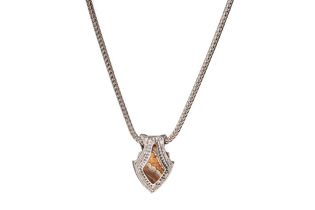 William Henry Silver Shield Necklace