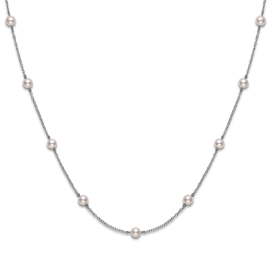 Mikimoto Everyday Essential Eleven Pearl Tin Cup Necklace