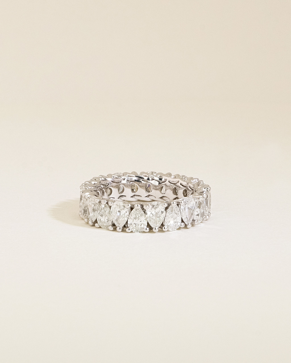 The Pear Diamond Eternity Ring front view