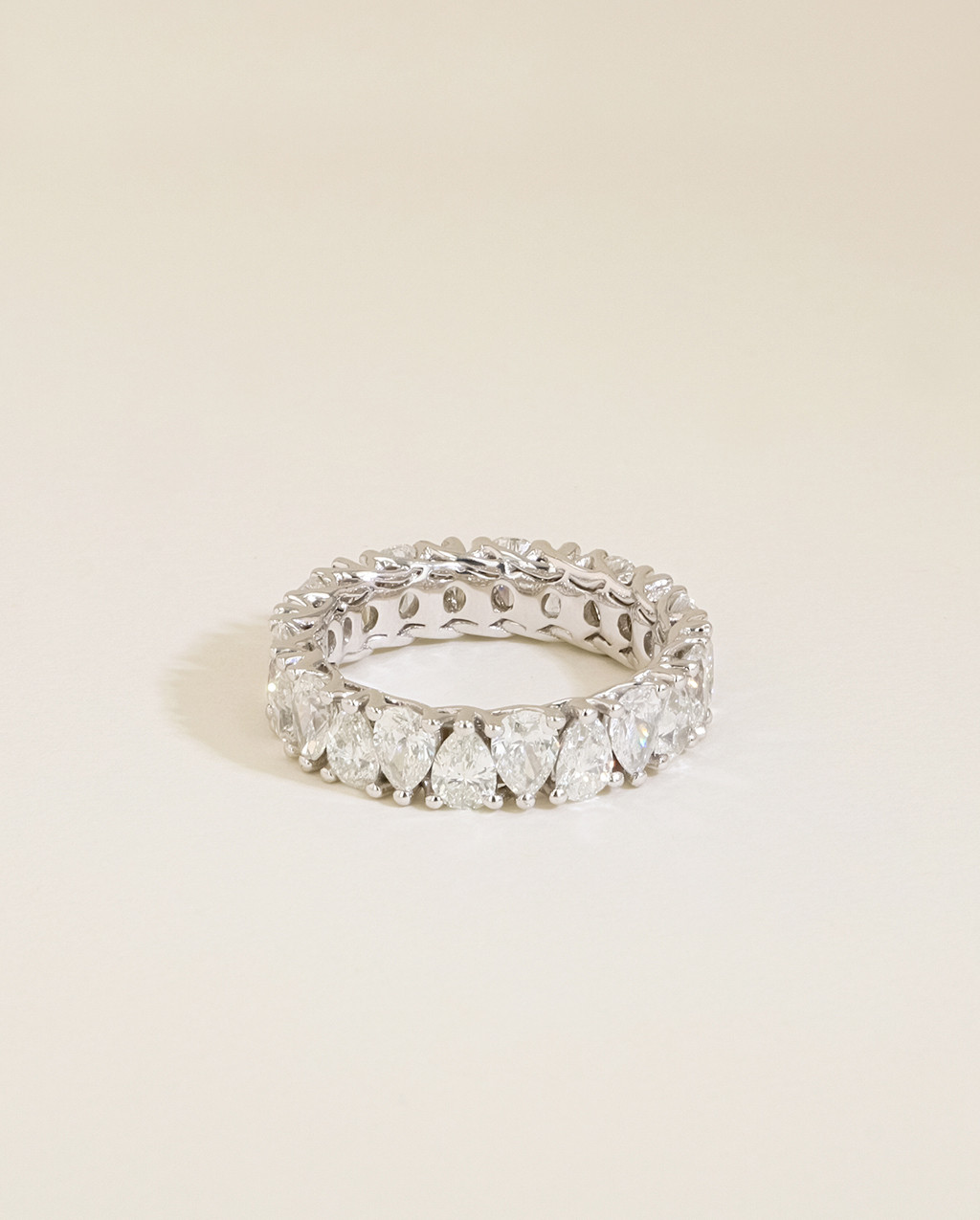 The Pear Diamond Eternity Ring top view