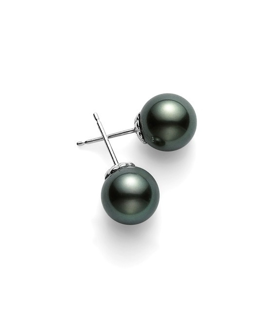 Mikimoto Black South Sea Stud Earrings