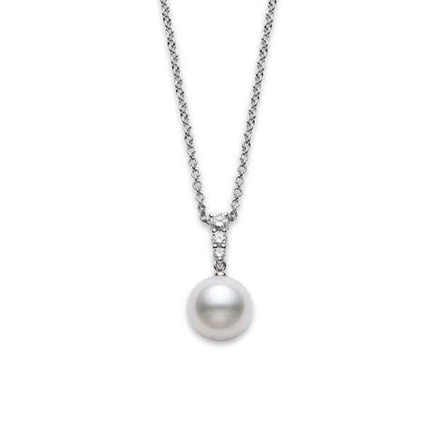 Mikimoto Morning Dew White South Sea Pearl & Diamond Pendant