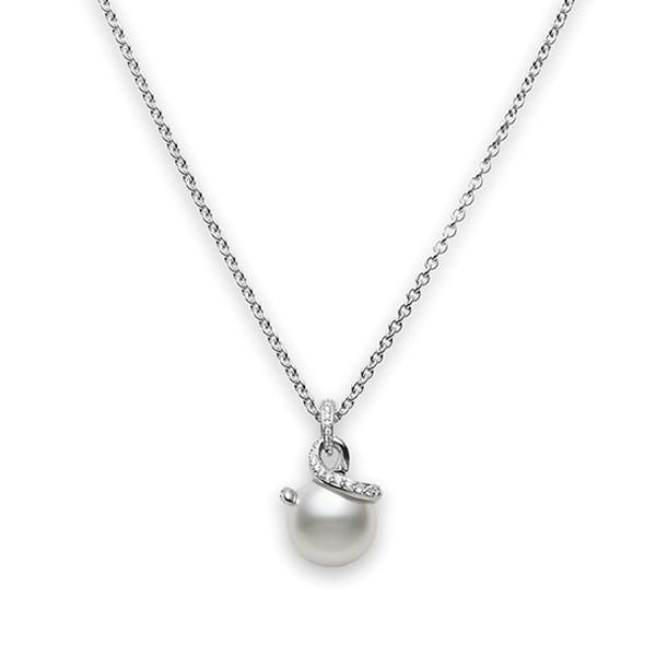 Mikimoto Twist White South Sea Pearl & Diamond Pendant