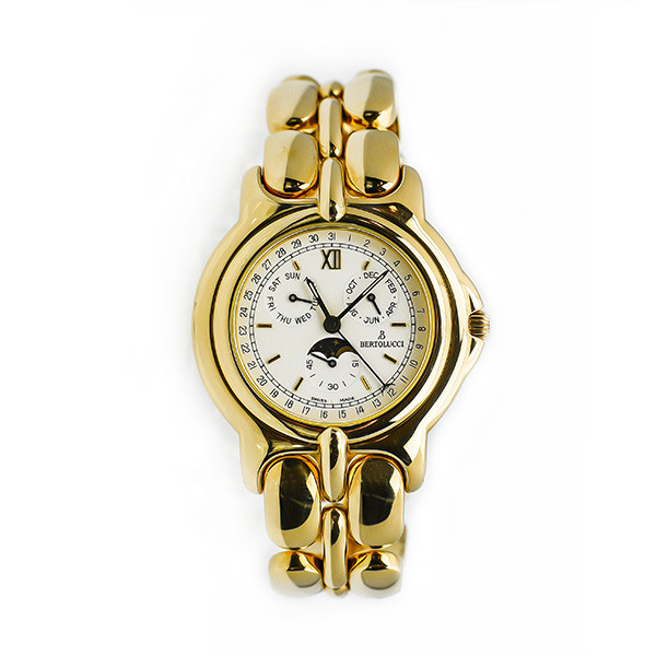 Bertolucci 18kt Yellow Gold Pulchra Moonphase Watch