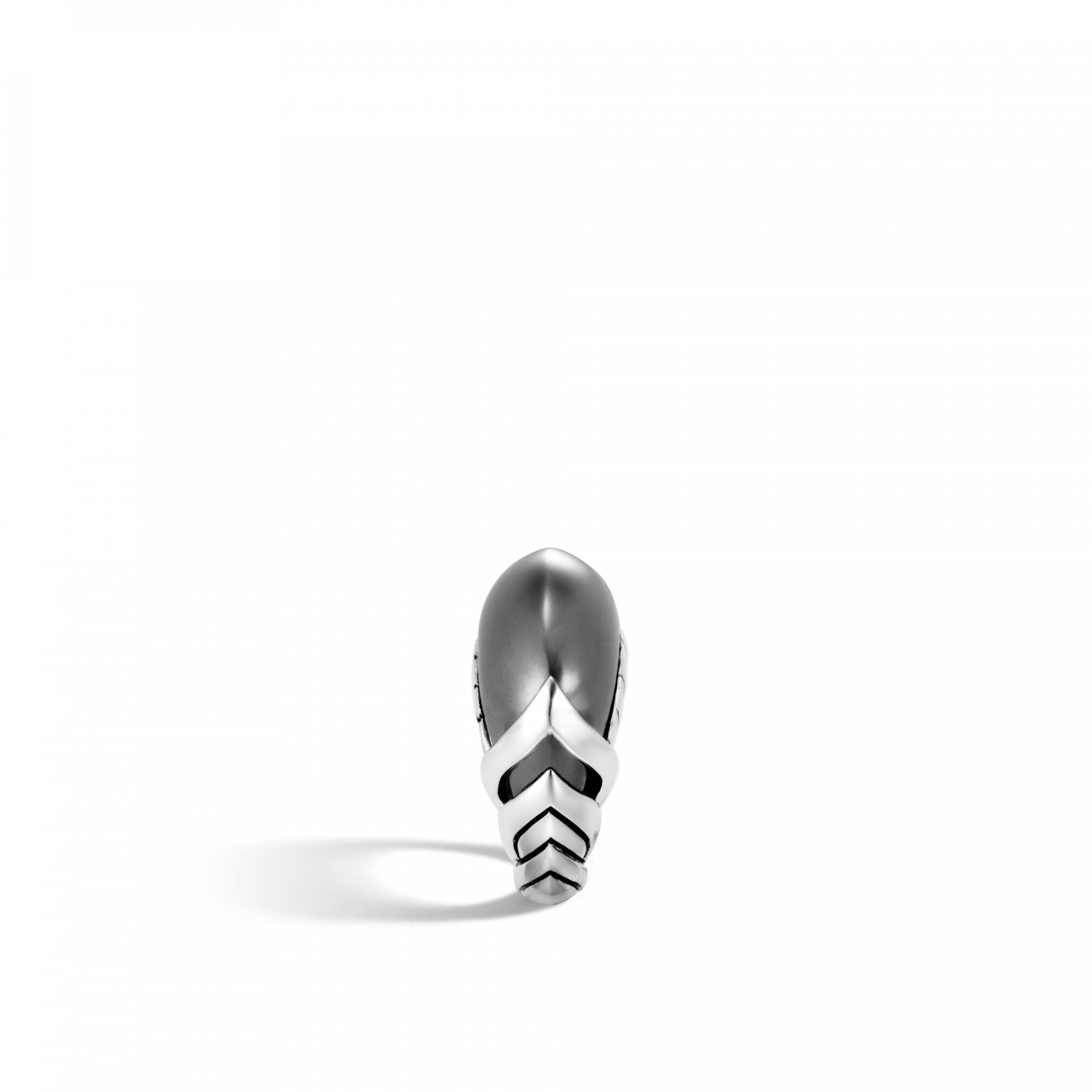 John Hardy Legends Naga Hematite Ring in Sterling Silver