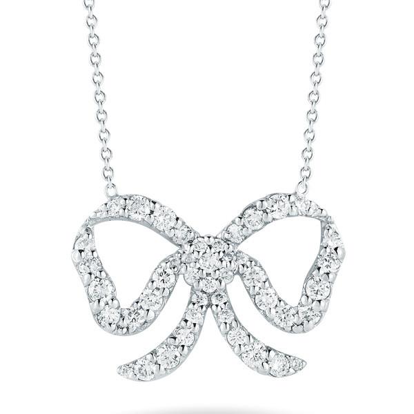 Roberto Coin Diamond Bow Necklace