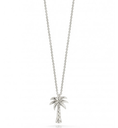 Roberto Coin Tiny Treasures 18kt White Gold Palm Tree Necklace