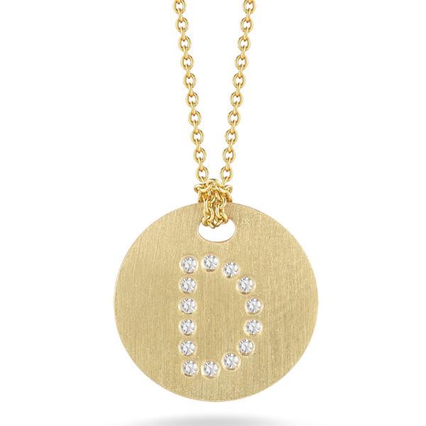 Diamond Initial D Medallion Necklace