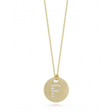 Roberto Coin Tiny Treasures Initial G Medallion Necklace