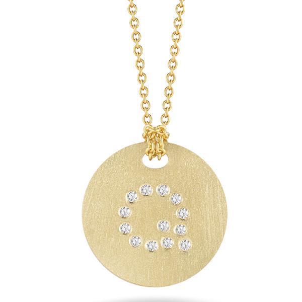 Initial Q Medallion Necklace