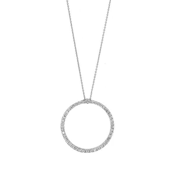 Roberto Coin Tiny Treasure Diamond Circle Necklace