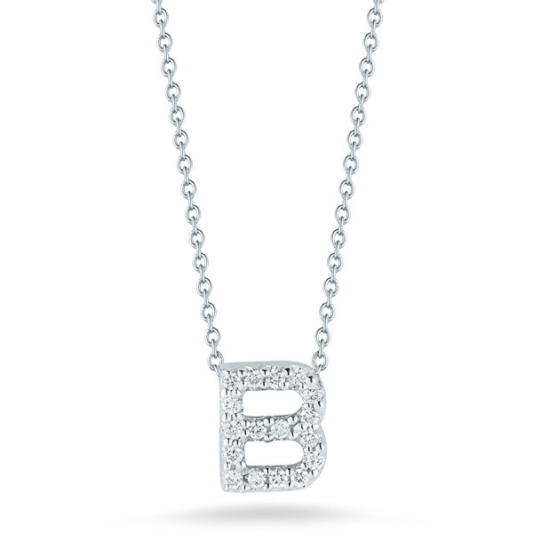Diamond Initial B Necklace