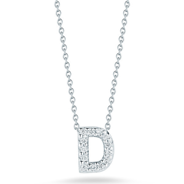Diamond Initial D Necklace