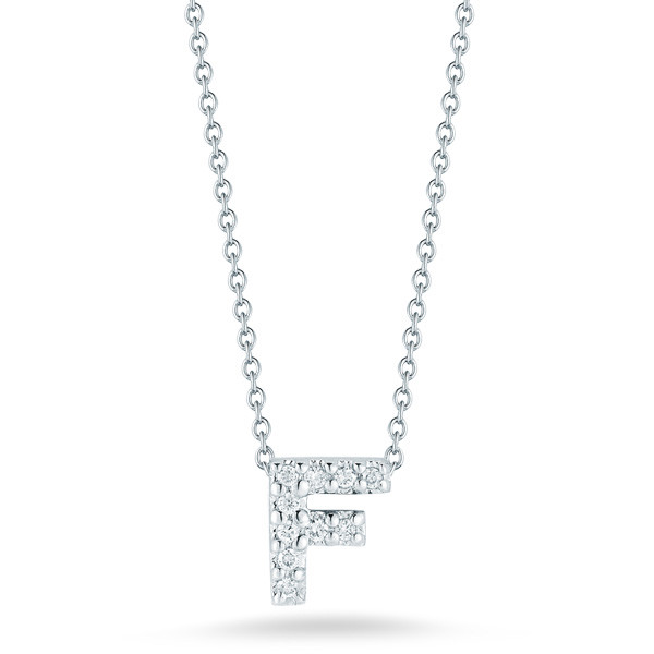 Diamond Initial F Necklace