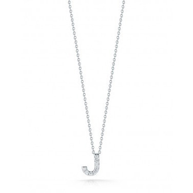 Diamond Initial J Necklace