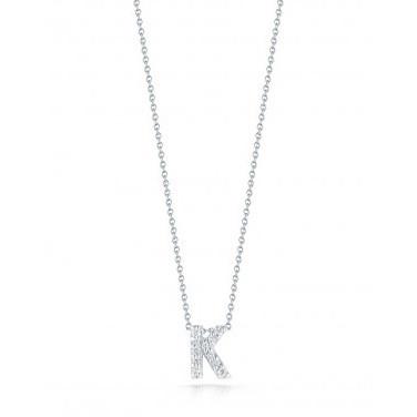 Diamond Initial K Necklace