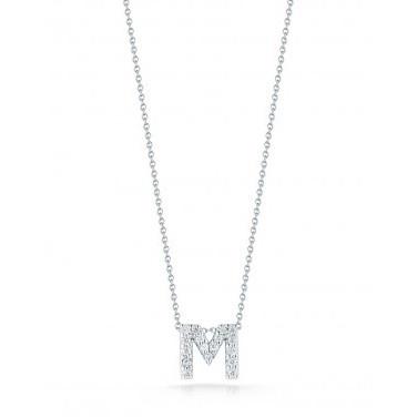 Diamond Initial M Necklace