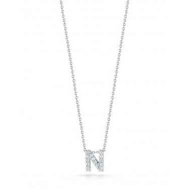 Diamond Initial N Necklace