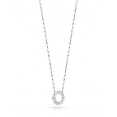 Diamond Initial O Necklace