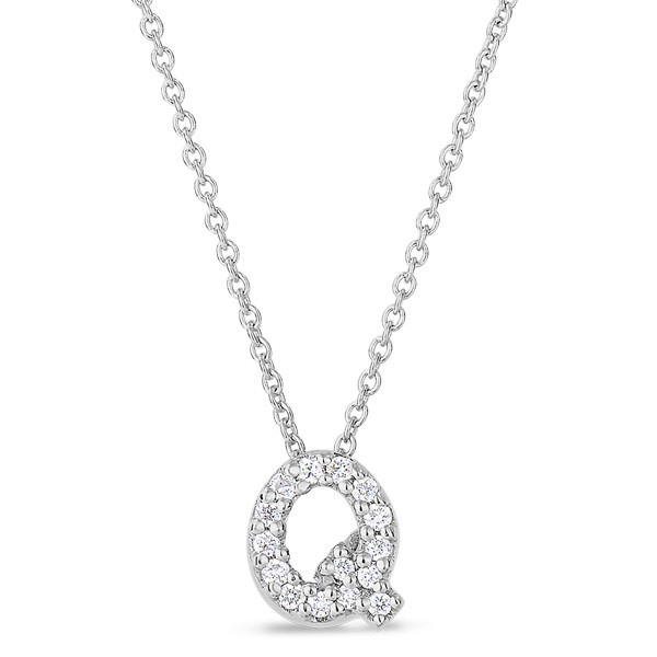 Diamond Initial Q Necklace